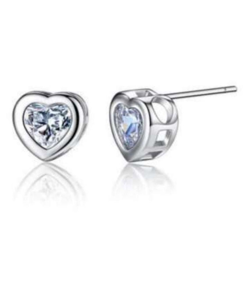 Sizzling Hot Heart Shape Swarovski Earring Stud For Women & Girls