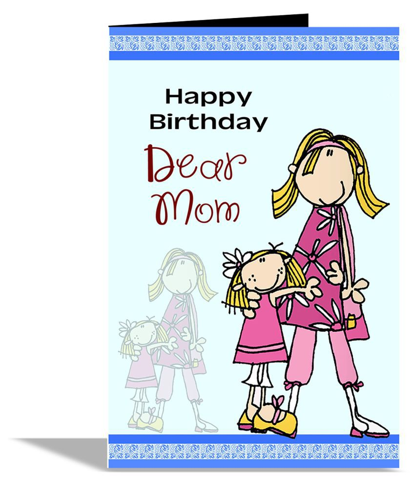 Swell Happy Birthday Dear Mom Greeting Card Buy Online At Best Price In Personalised Birthday Cards Veneteletsinfo