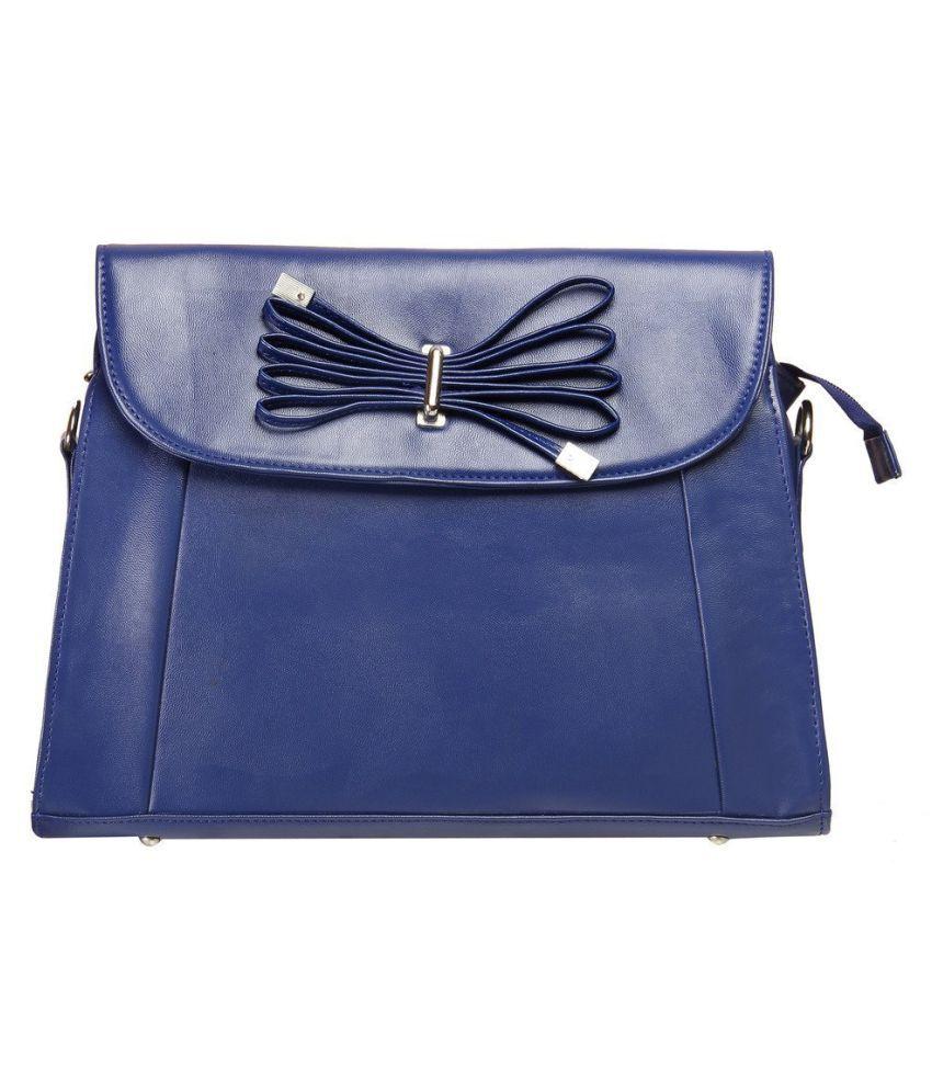 LEVISE LONDON Blue P.U. Sling Bag