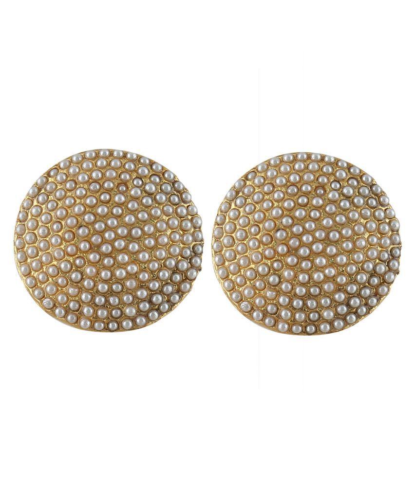 ASTON VANS Designer White Stud Earring for Women in Alloy