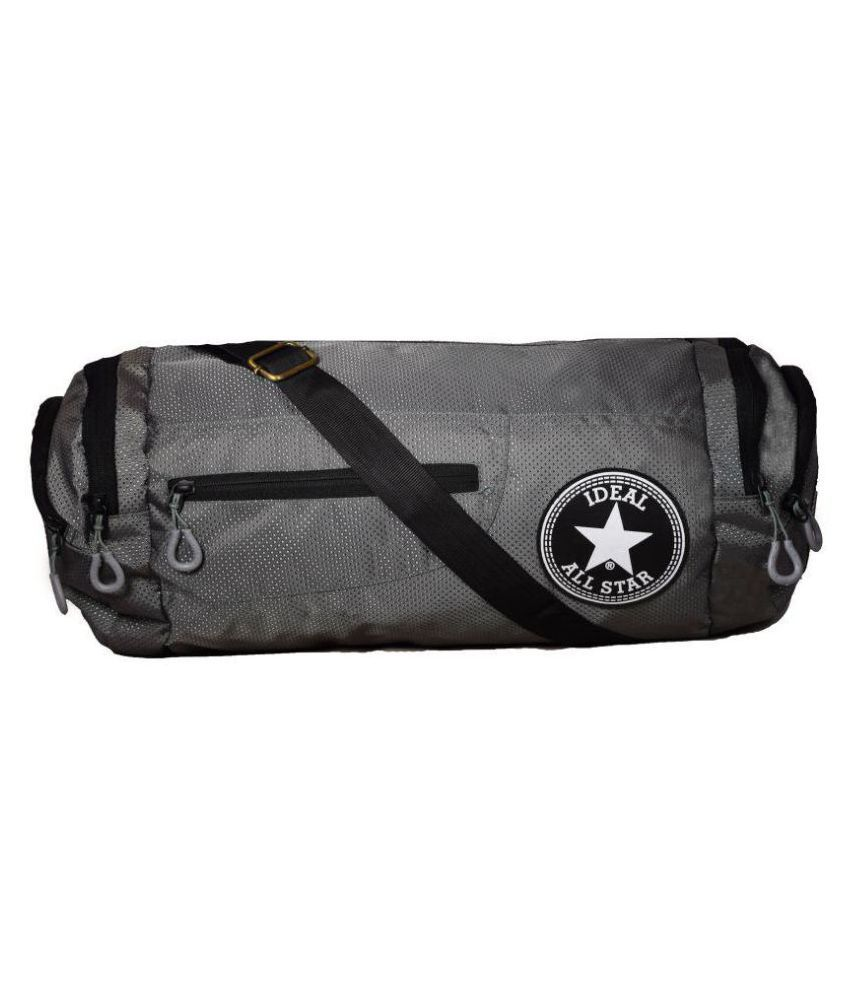 Ideal Grey Small Polyester Gym Bag
