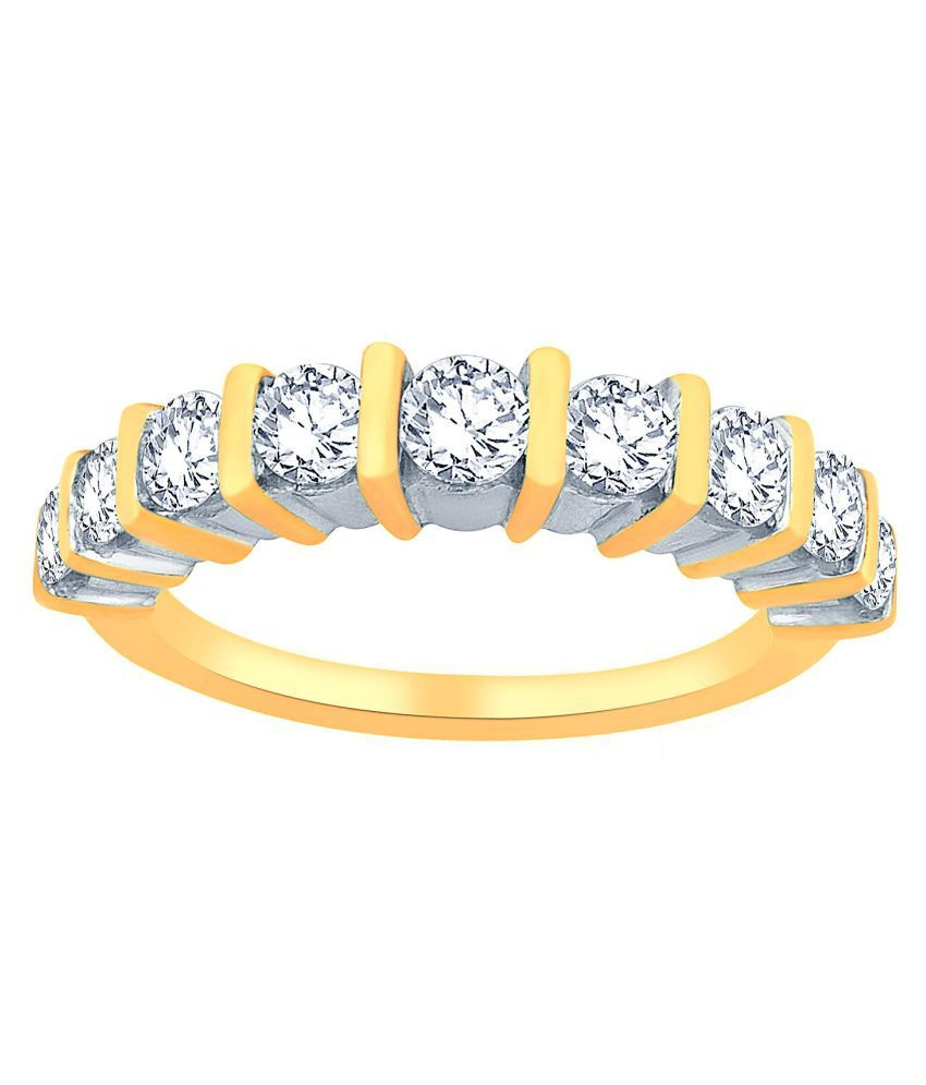 Glitterati By Asmi 18k Yellow Gold Ring