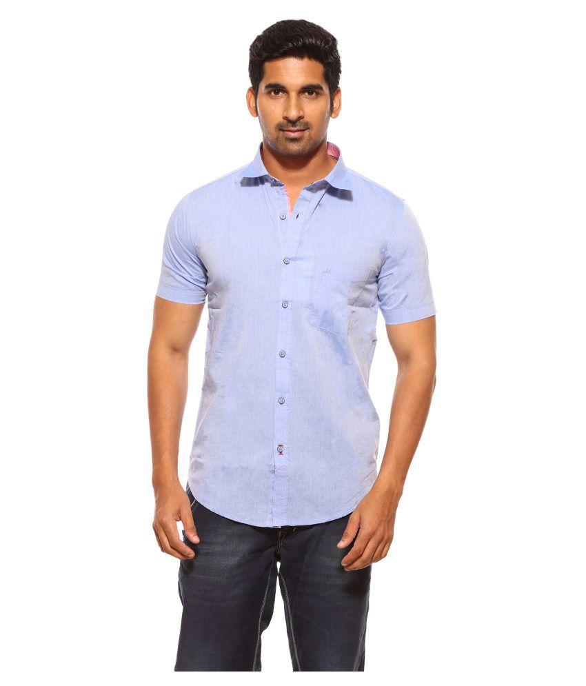 0f3791fc207 SUMMER LINE Blue Casual Regular Fit Shirt - Buy SUMMER LINE Blue Casual  Regular Fit Shirt Online at Best Prices in India on Snapdeal