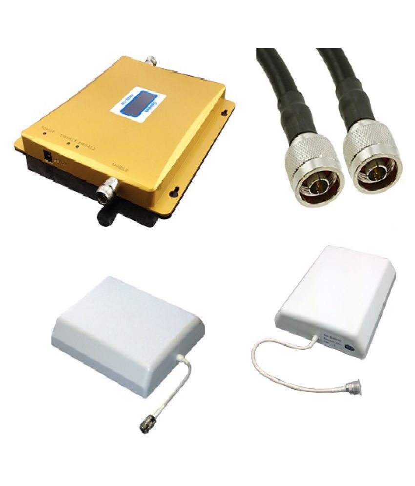 Lintratek KW20L-GD Mobile Cell Phone Signal Booster 3200 RJ11