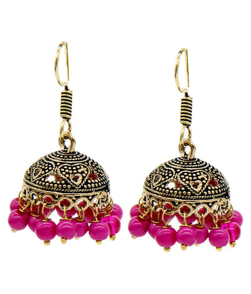 Mali Fionna Oxidised Pearl Drop Earring