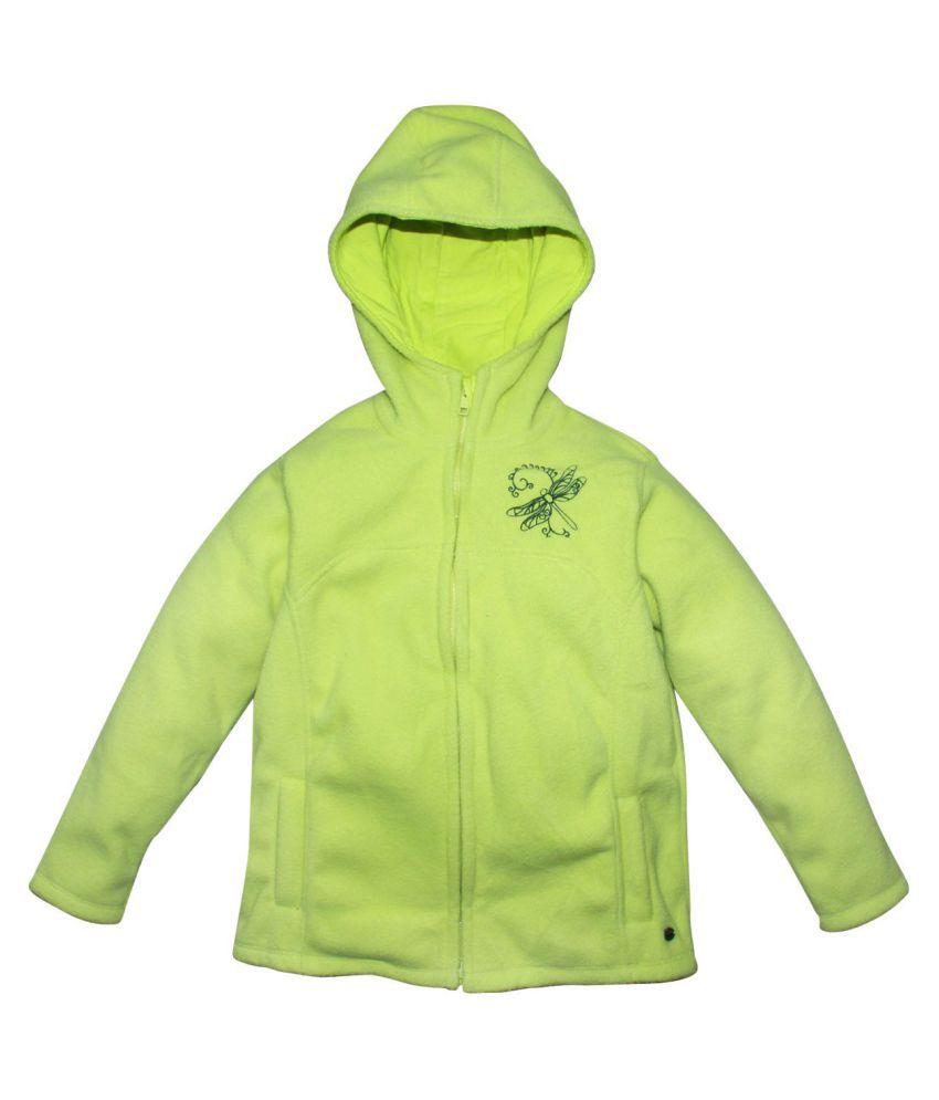 FS MiniKlub Girl's Polar Fleece Jacket-Citrus Green