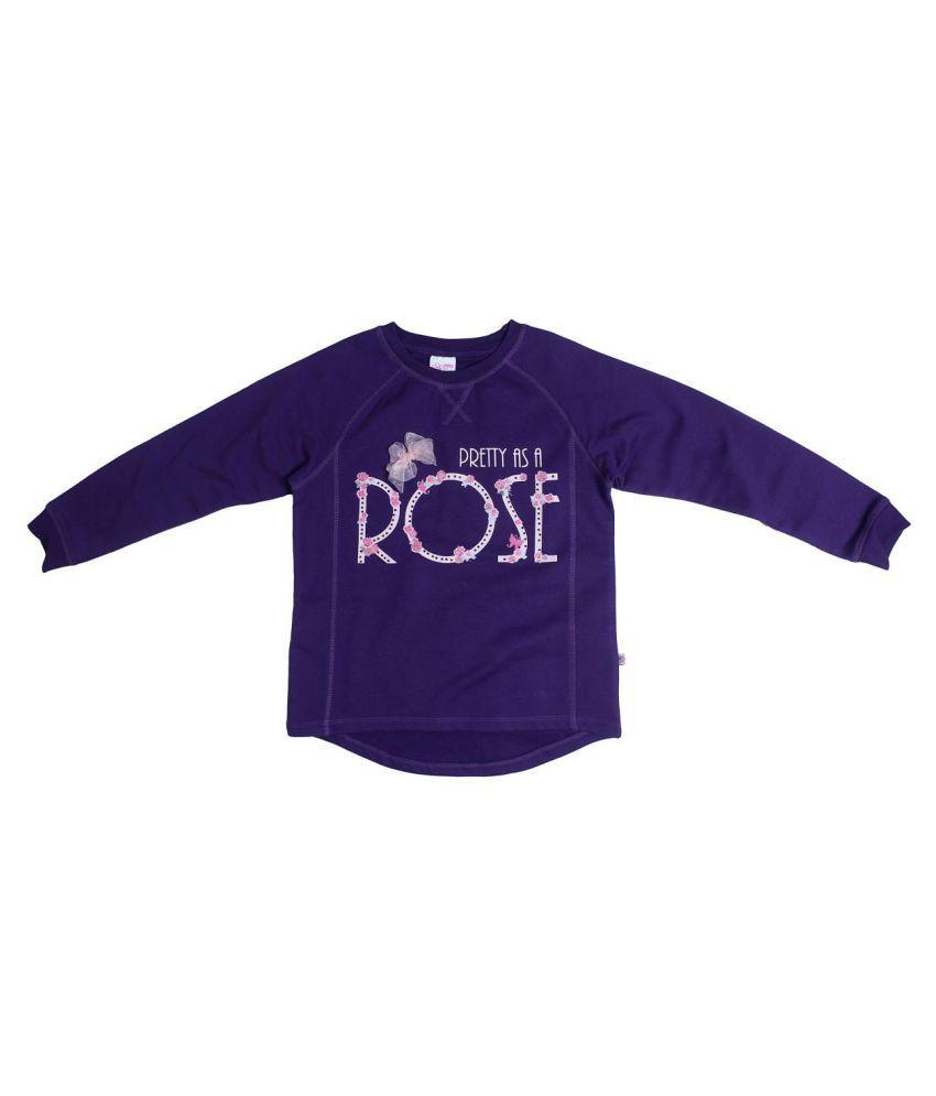 FS MiniKlub Girl's Pullover Sweatshirt-Violet