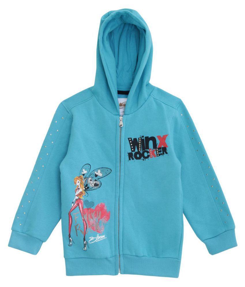 WINX Girl's Sweatshirt-Teal