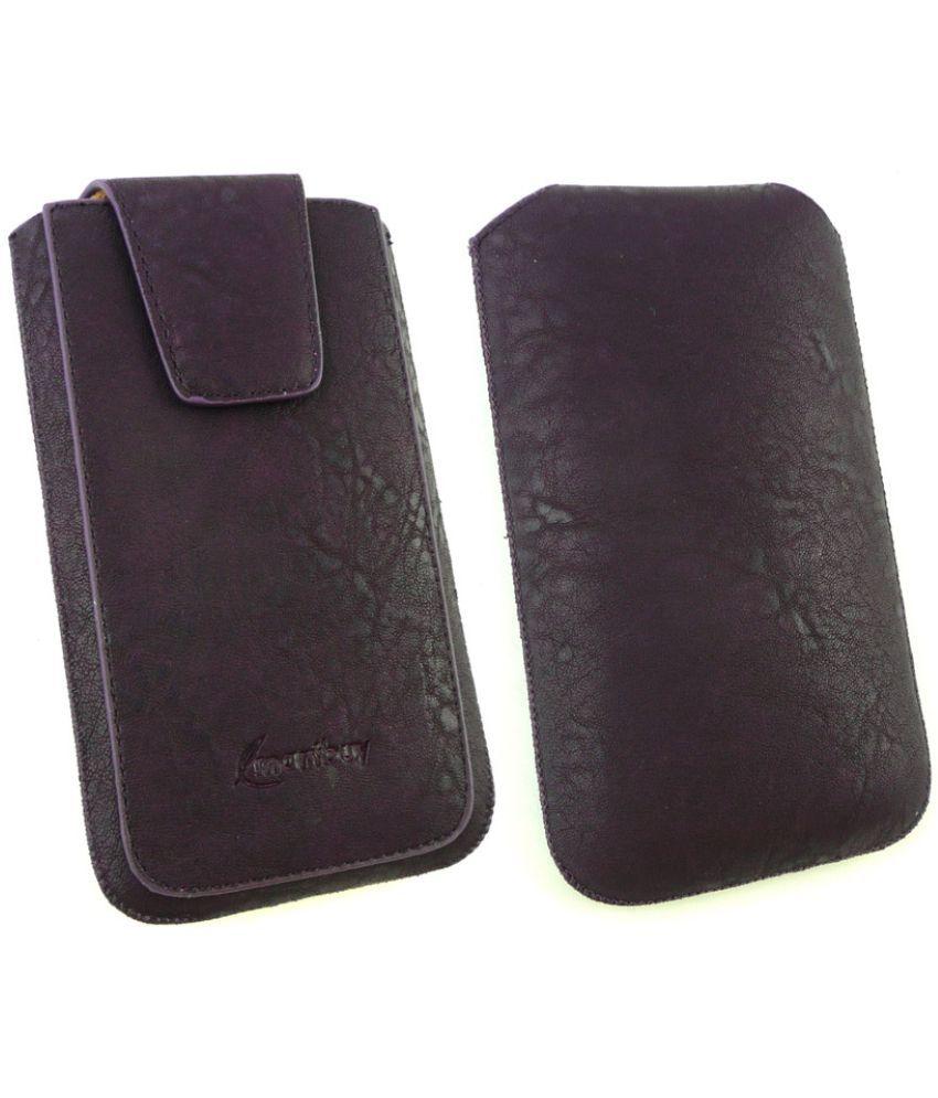 Celkon A 401 (4GB) Flip Cover by Emartbuy - Purple