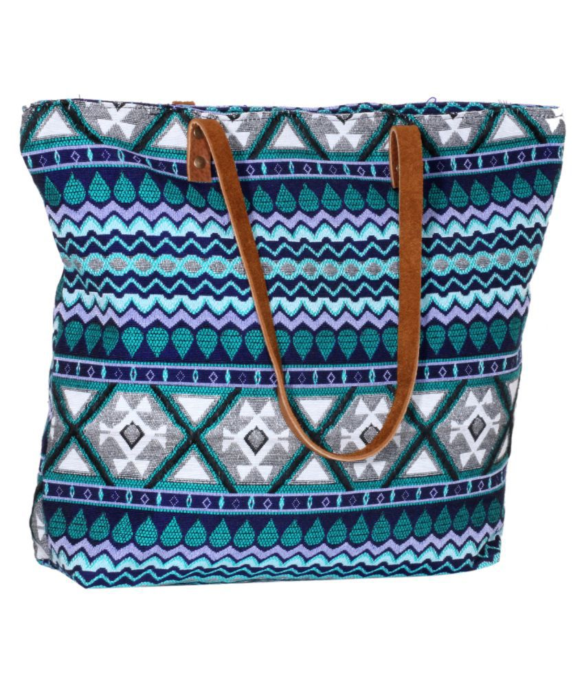 IndiWeaves Multi Cotton Tote Bag
