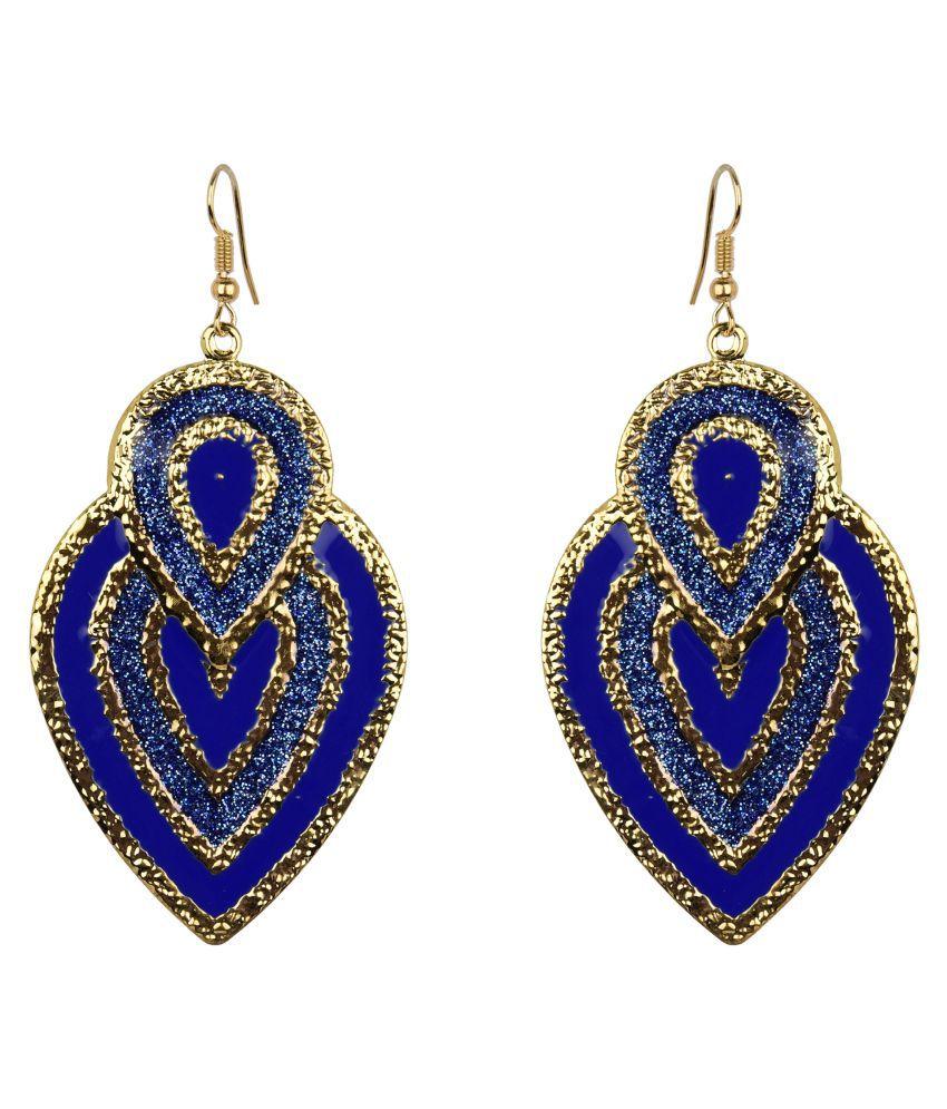 Diva Walk blue alloy  earring