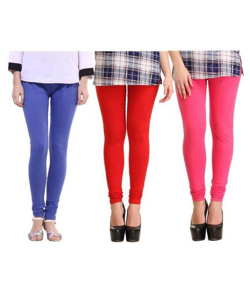 Le Soft Cotton Lycra Pack of 3 Leggings
