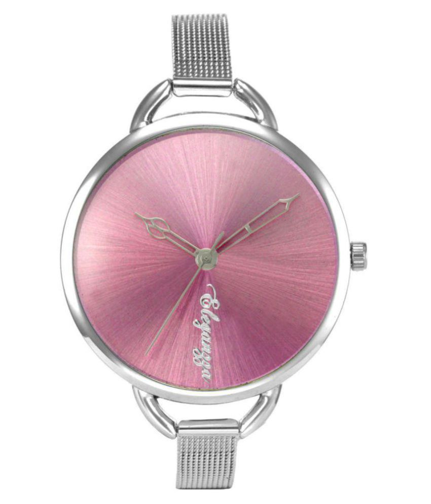 Eleganzza Pink Vibrant Analog watch for women