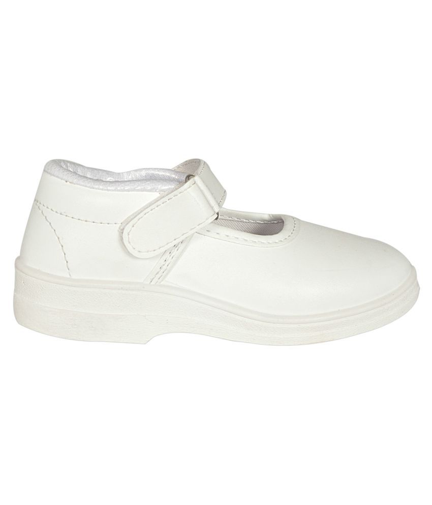 free shipping low price cheap buy authentic Lakhani White School Shoes for Girls With Velcro websites cheap online discount amazon 1TK8ukjYc