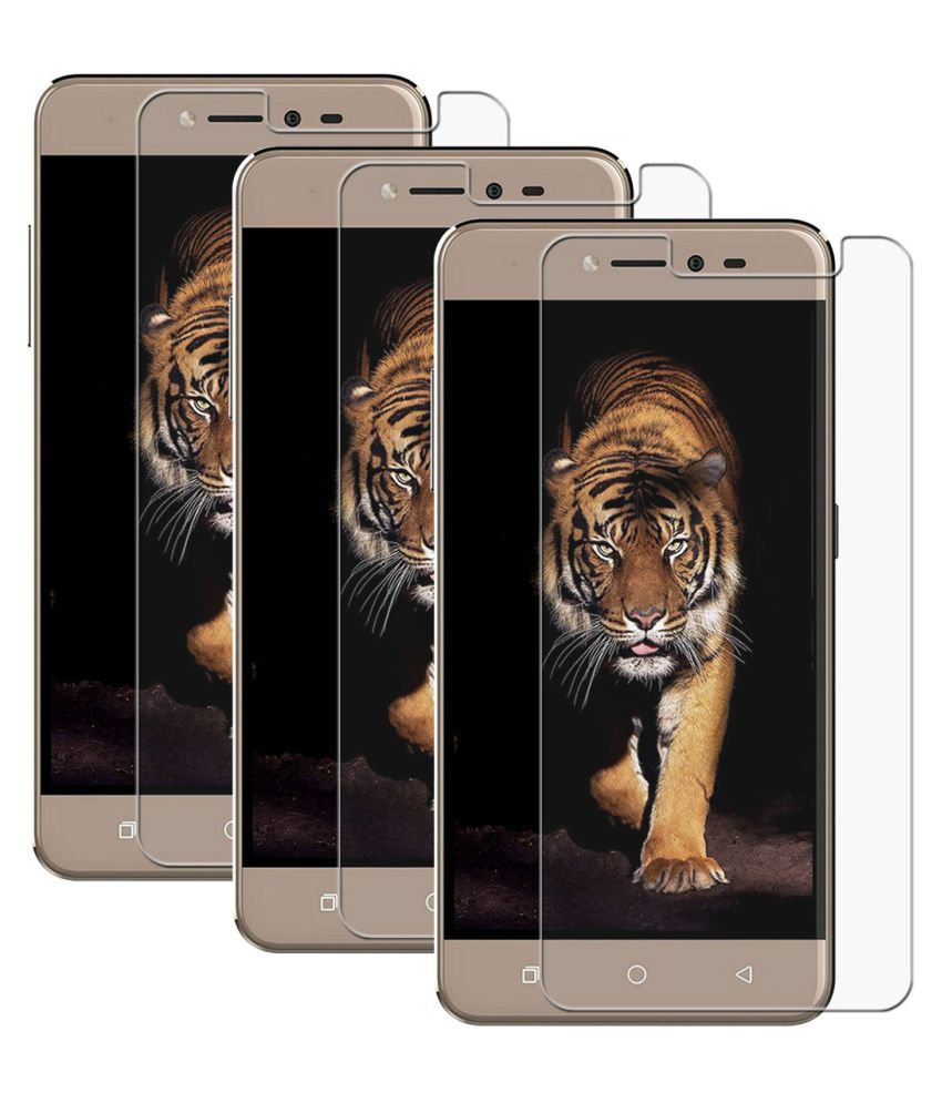 Coolpad Note 5 Lite Tempered Glass Screen Guard By PraIQ-Pack of 3