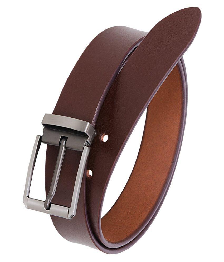 KESARI Brown Leather Casual Belts