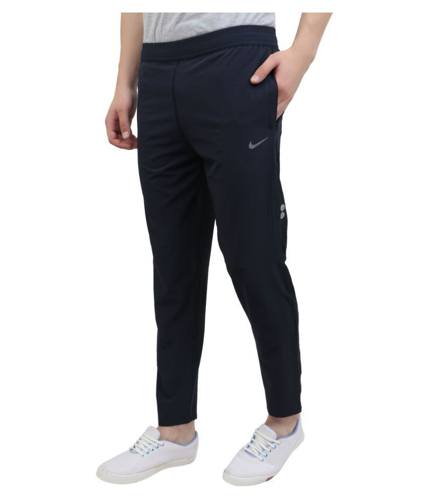 da68dde578e5 Nike Navy Polyester Lycra Trackpants - Buy Nike Navy Polyester Lycra  Trackpants Online at Low Price in India - Snapdeal