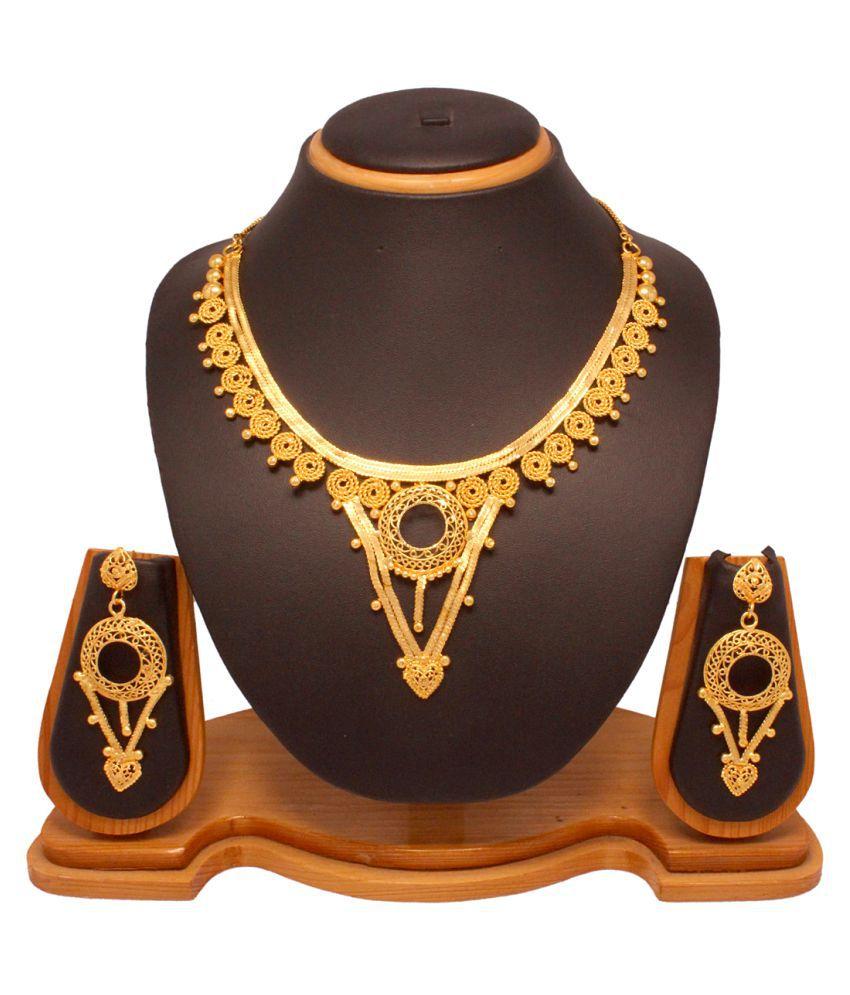 Vendee Fashion Choker Necklace Set (8035)
