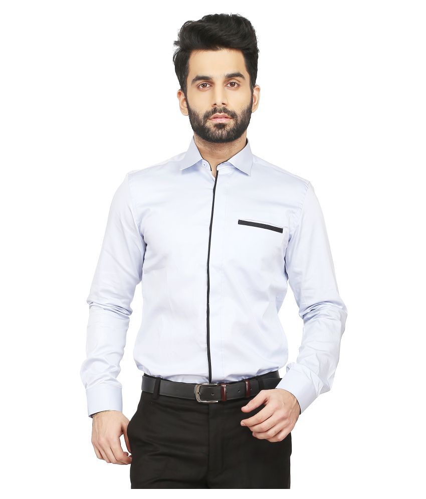Daagwood Blue Casual Regular Fit Shirt