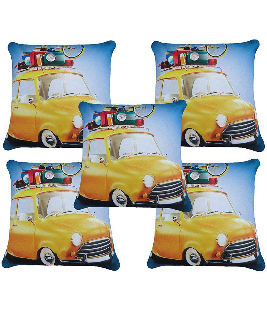 Glamkart Set of 5 Cotton Cushion Covers 40X40 cm (16X16)