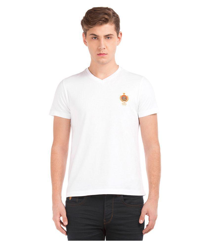 U.S. Polo Assn. White V-Neck T-Shirt