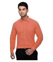 Khadi Orange Formal Regular Fit Shirt