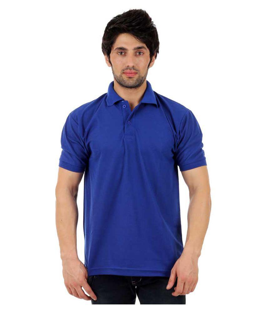 Finix Blue Regular Fit Polo T Shirt