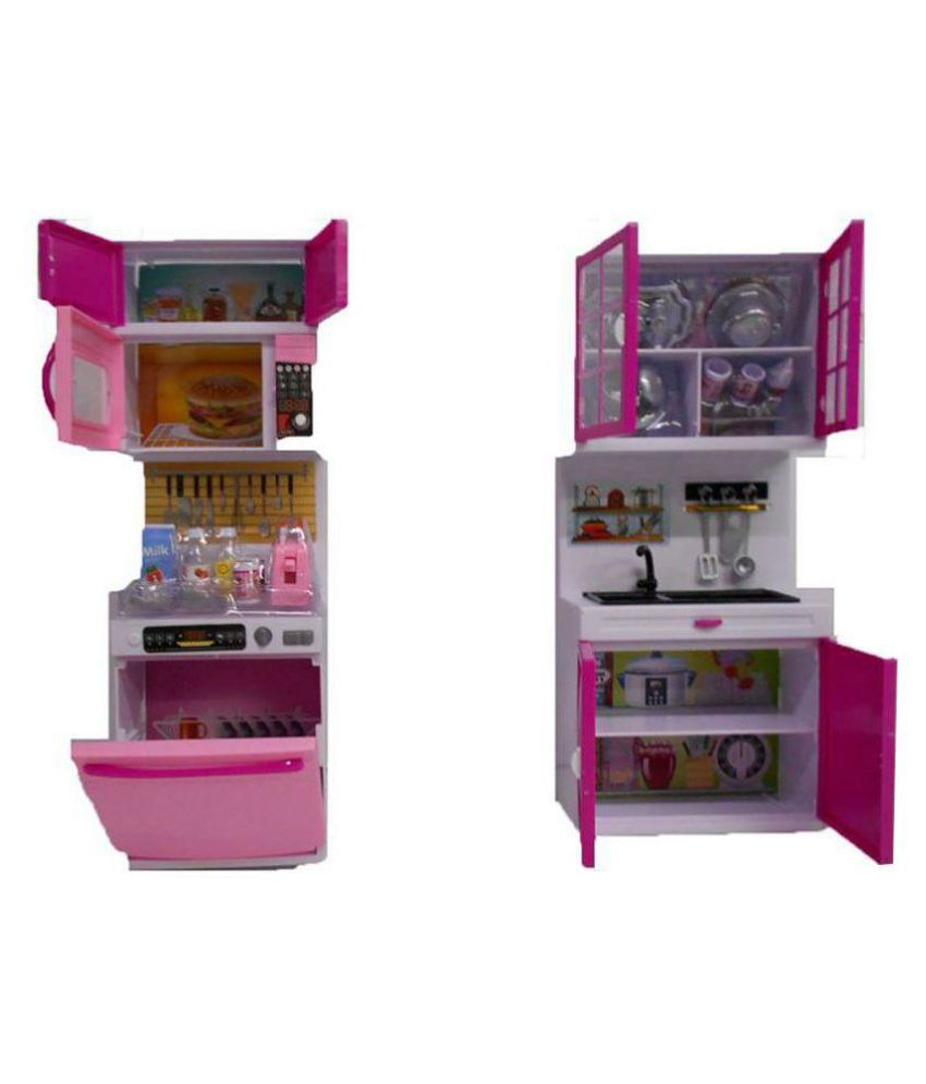 DWIZA Multicolor Kitchen Play Set With Refrigerator Cook Top and ...