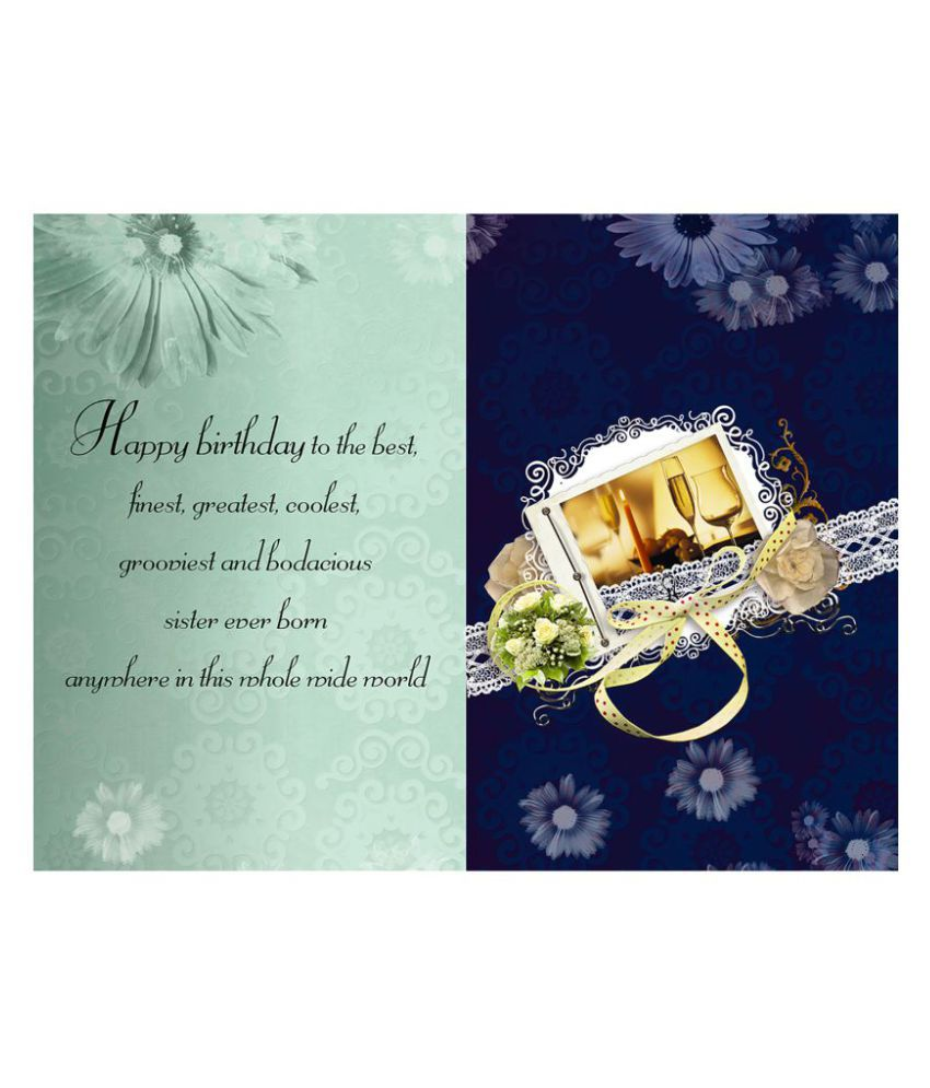 happy birthday sister greeting card buy online at best