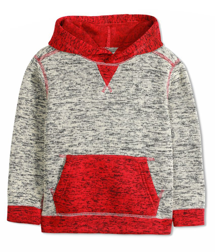 Cherry Crumble Dual Shade Cotton Blend Hoodie