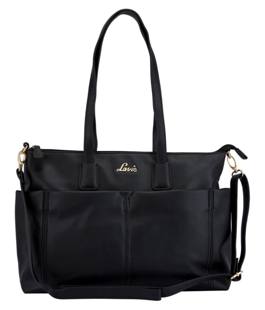 Lavie Black P.U. Tote Bag