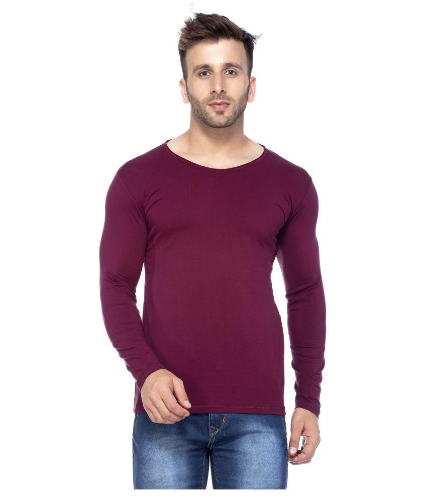 Tinted Maroon Round T-Shirt