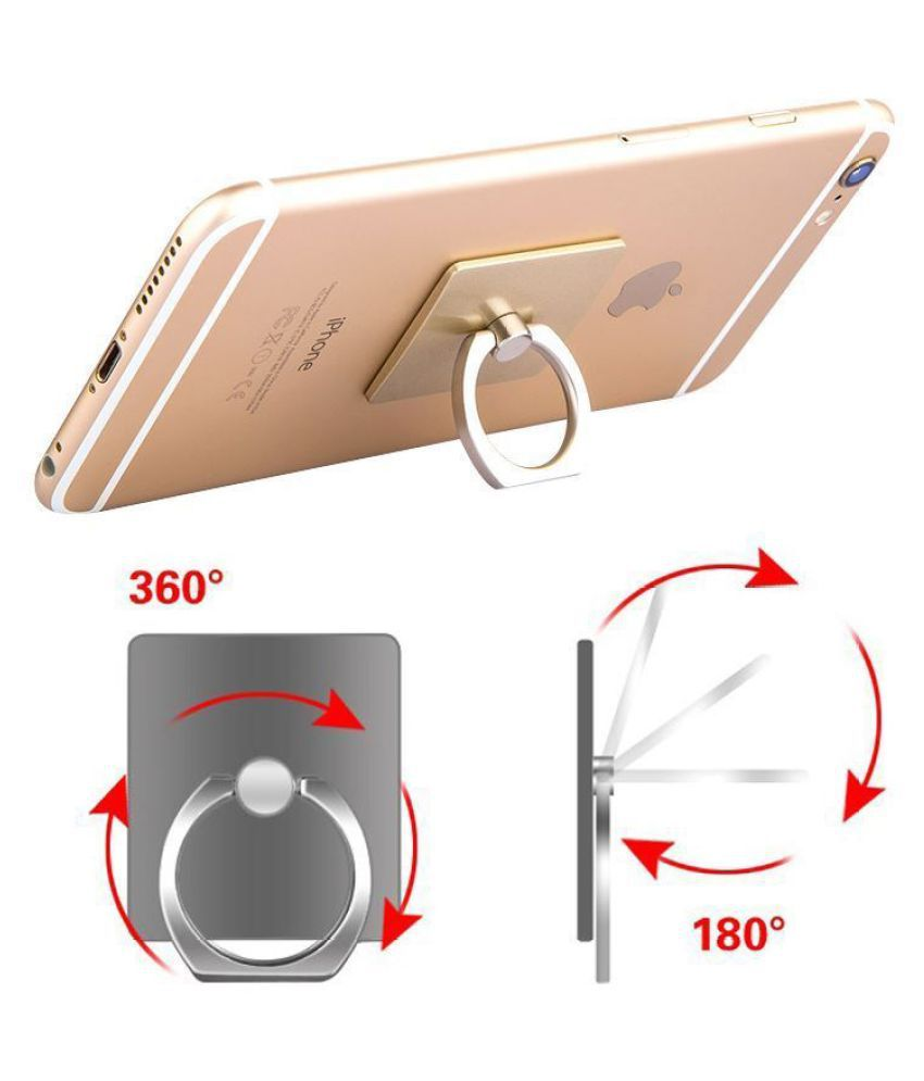 IRABLESS Mobile Ring holder compatible for MI Smart Phones & Small Size  Digital Devices 360° Rotate Metal Selfie Finger Ring Mobile Ring Stand