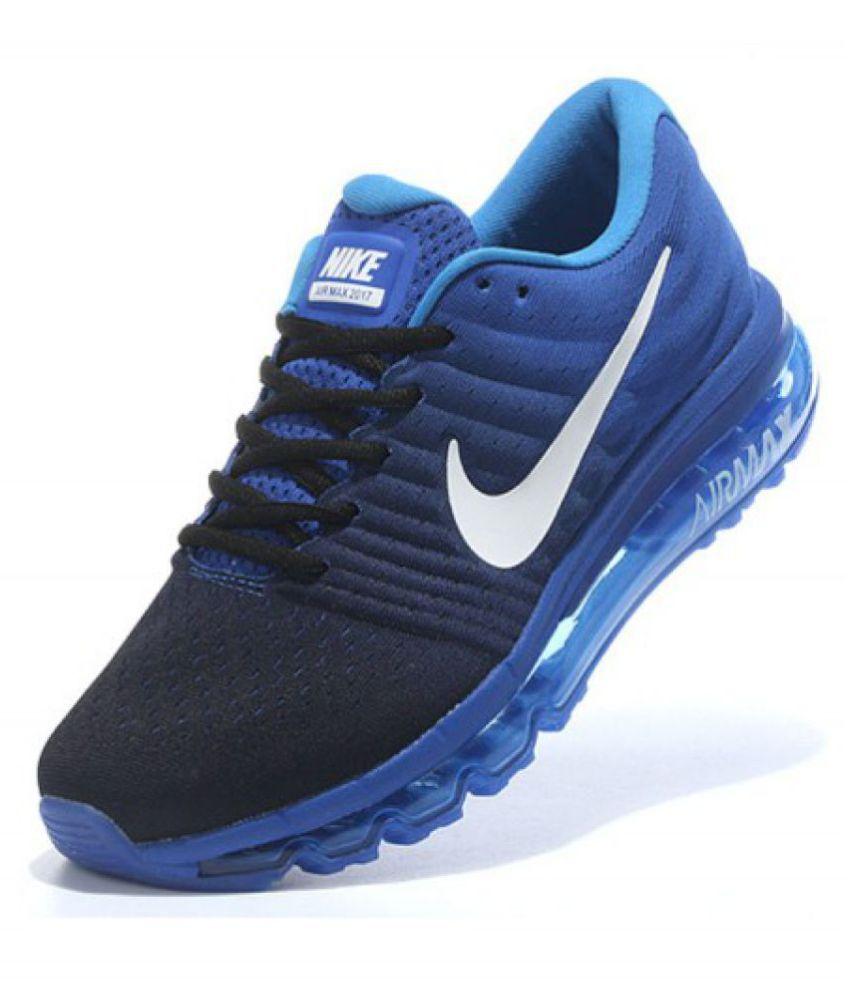 1fa39fe2fe23a Nike Airmax 2017 Blue Running Shoes - Buy Nike Airmax 2017 Blue ...