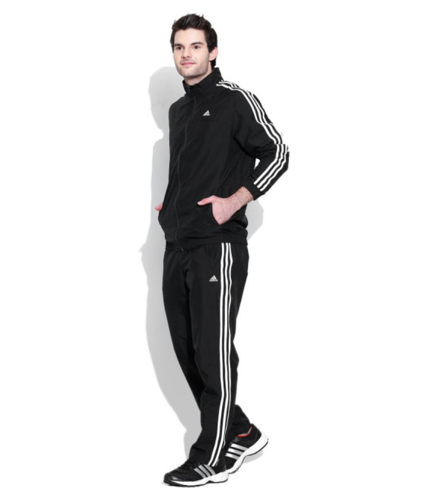 Gobernar una taza de Ideal  Adidas Black ESS 3S WV Tracksuit - Buy Adidas Black ESS 3S WV Tracksuit  Online at Low Price in India - Snapdeal