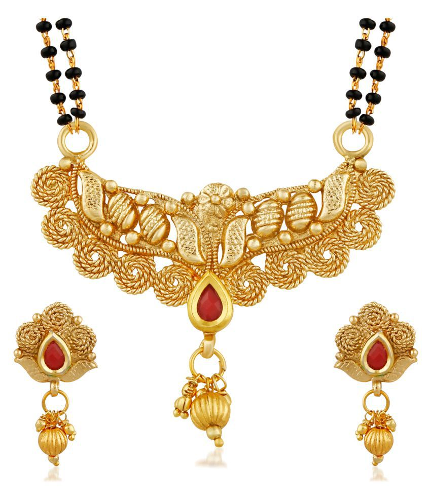 PALASH STYLISH DESIGNER GOLD PLATED MANGALSUTRA FOR WOMEN