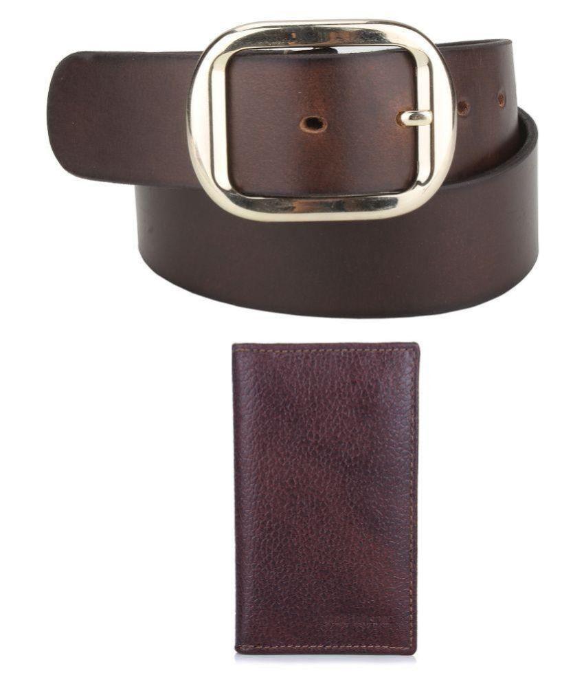 Aditi Wasan Brown Leather Casual Belts
