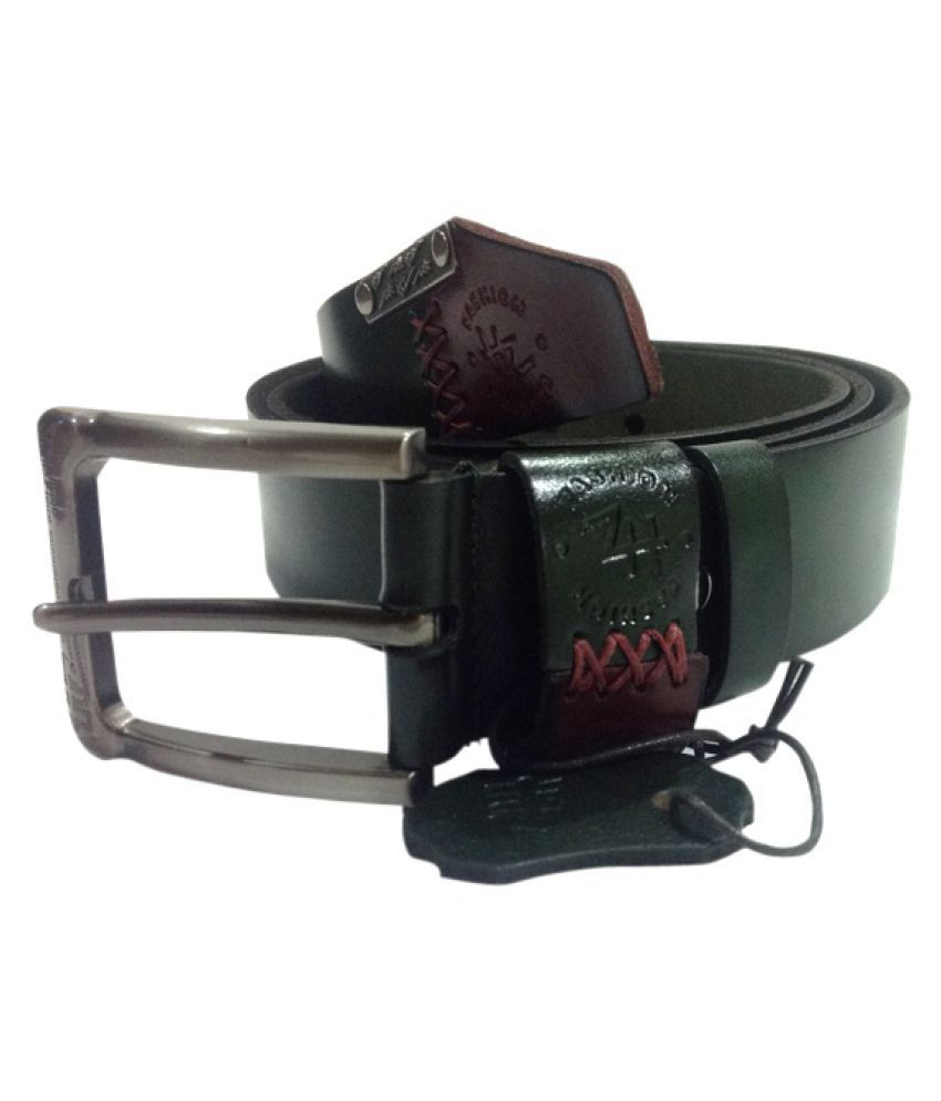 Aditi Wasan Green Leather Casual Belts