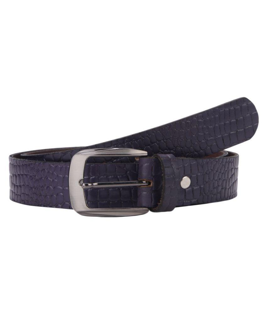 Aditi Wasan Purple Leather Casual Belts