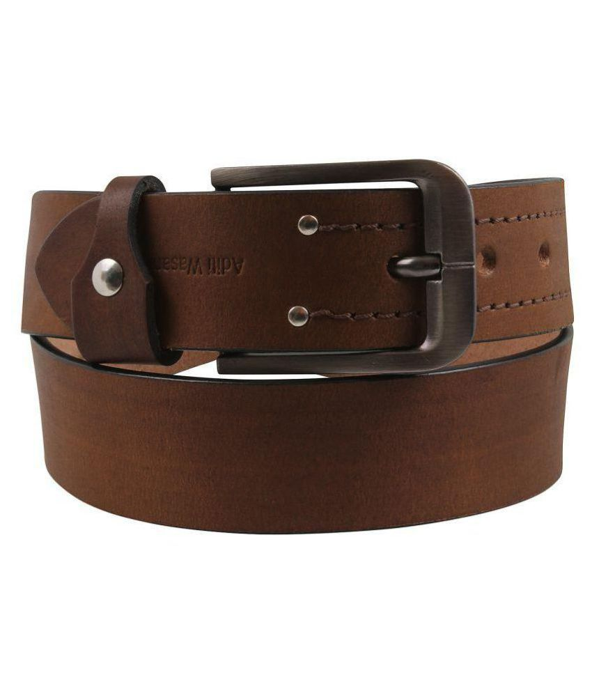 Aditi Wasan Tan Leather Casual Belts