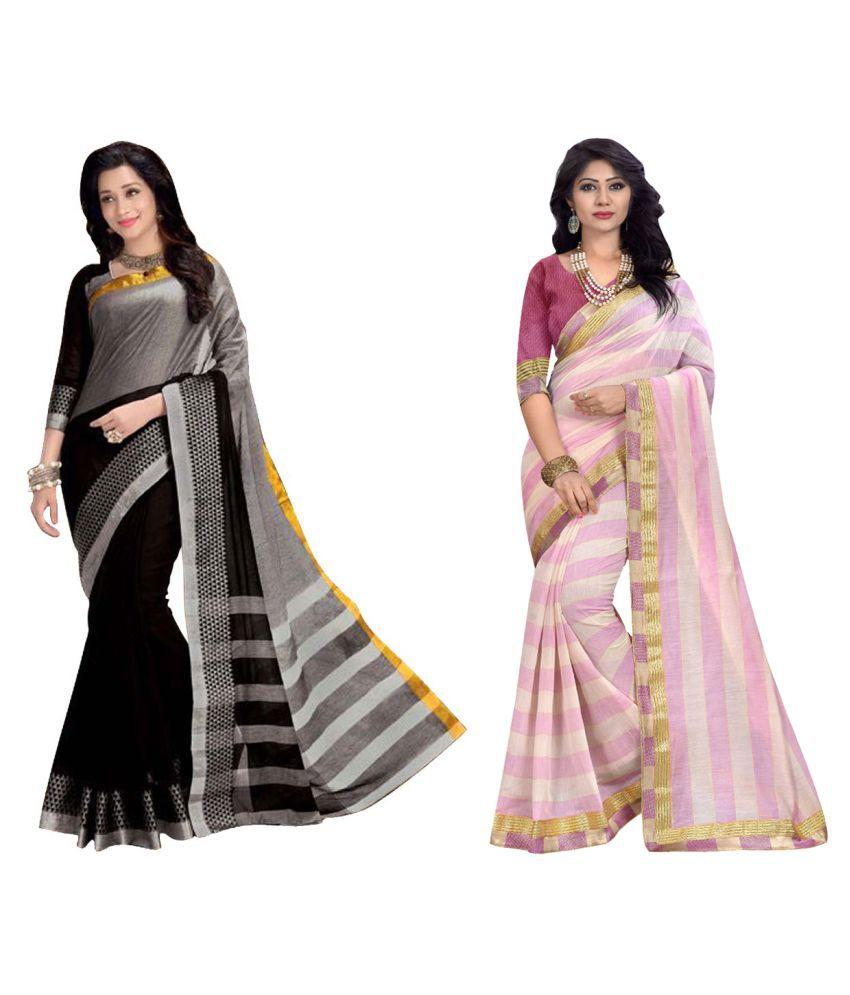 Kavya Fashion Multicoloured Cotton Silk Saree Combos
