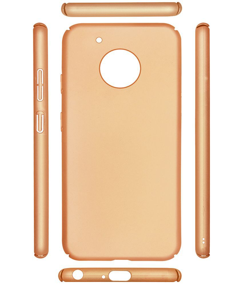 Motorola Moto G5 Plus Plain Cases Casotec - Golden