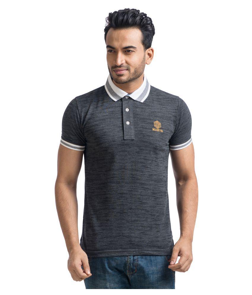 Mabyn Grey High Neck T-Shirt