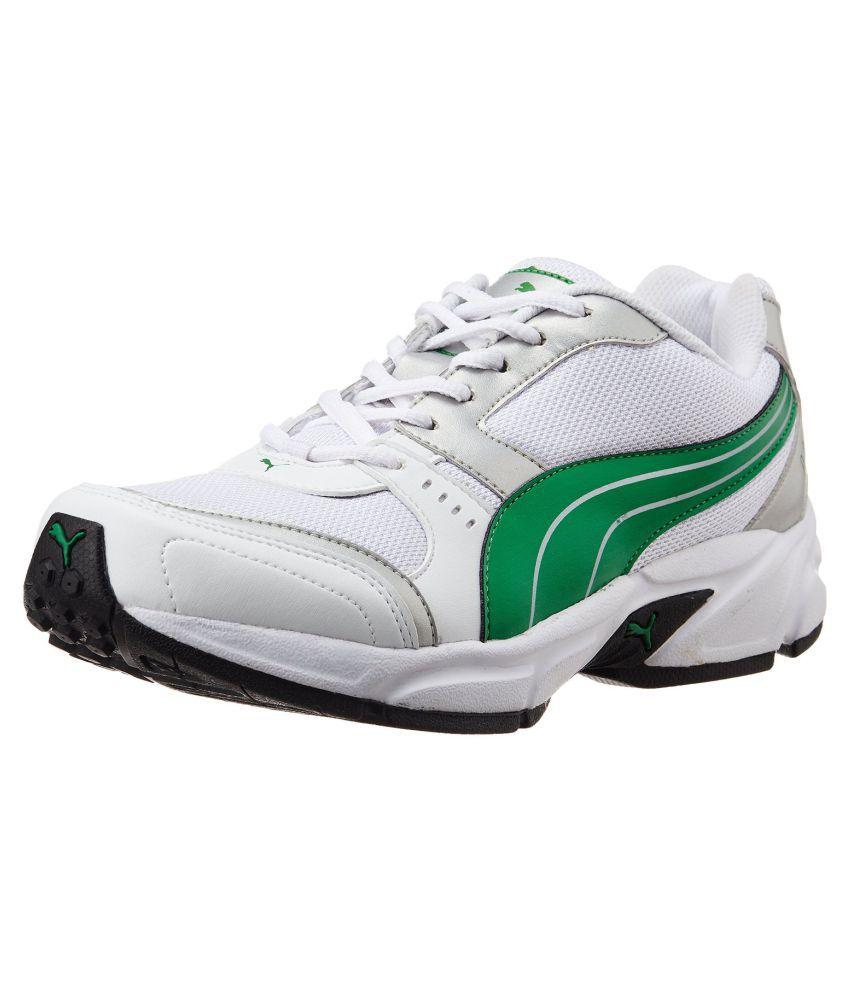 Puma Men's (White, Green)  Running Shoes