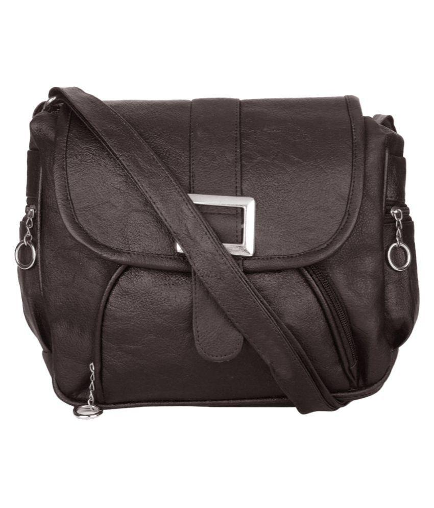 Devanshiart Black P.U. Shoulder Bag