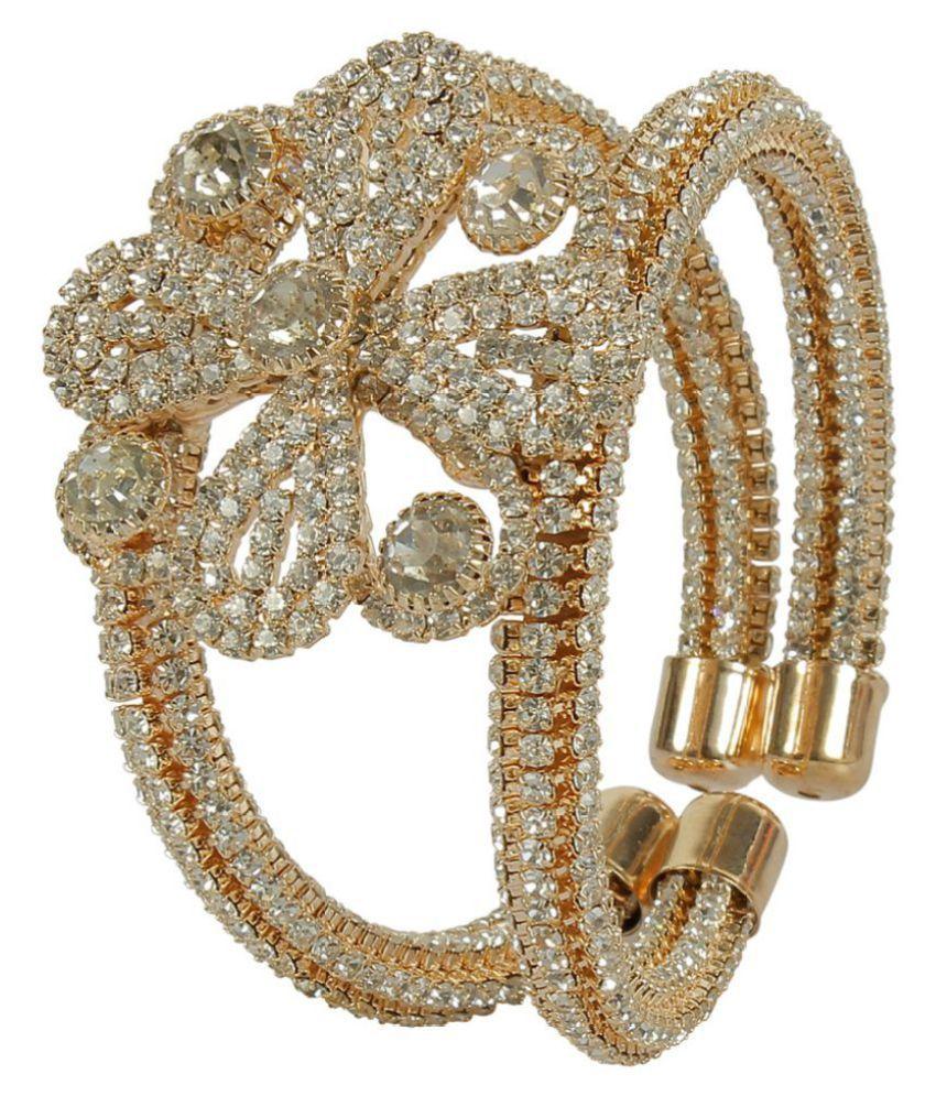 MUCH MORE Charm Look Stunning Single Hand Kada Bangle For Women & Girls Jewelry