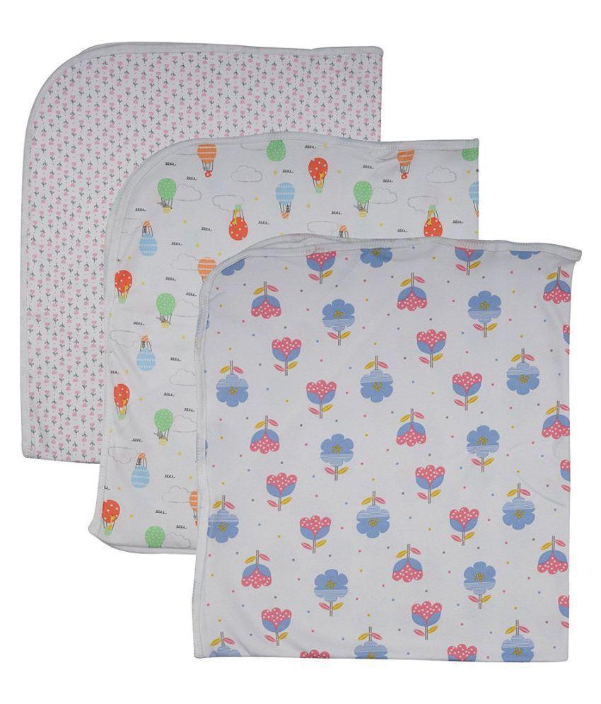 Dream Baby infant Wear Multi-Colour Cotton Baby Wrap cum blanket ( 70 cm × 57 cm - 3 pcs)