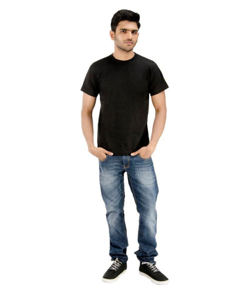 Blueash Black Round T-Shirt