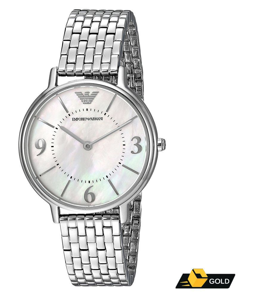 b7bfa0cb52 Emporio Armani AR2507 Mother of Pearl Dial Analog Watch For Women Price in  India: Buy Emporio Armani AR2507 Mother of Pearl Dial Analog Watch For Women  ...