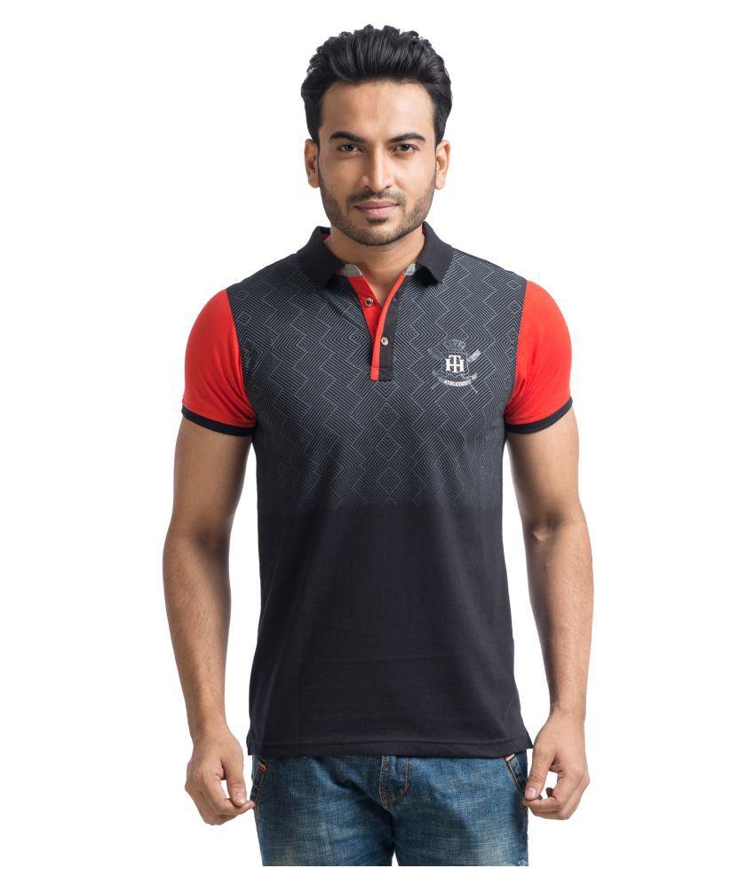 Mabyn Black High Neck T-Shirt